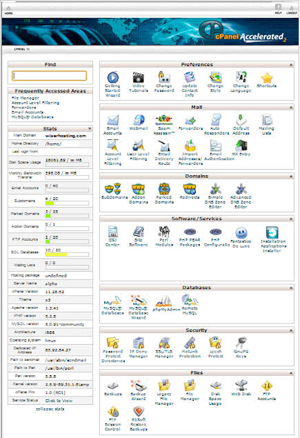 cPanel - Webmaster Control Panel